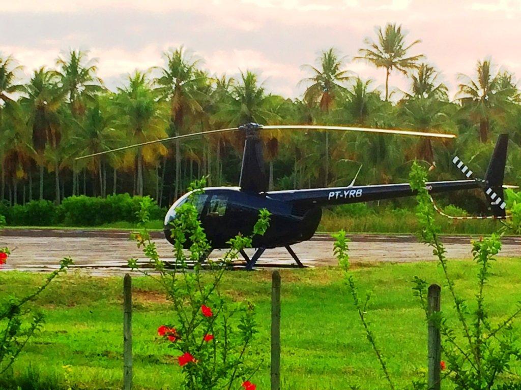 Helicóptero para se chegar até Morro